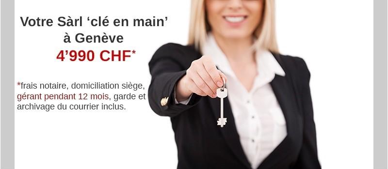 Société SARL en Suisse prête à l'emploi avec la mise à disposition d'un gérant professionnel et l'adresse du siège à Genève.